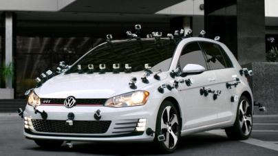 Motor sesi çıkaran Volkswagen reklamında