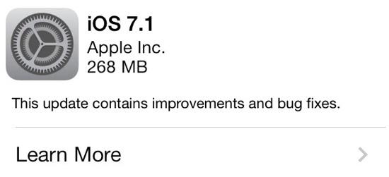 Photo of iOS 7.1 çıktı